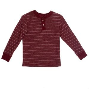Cherokee Waffle Thermal Tee In Red